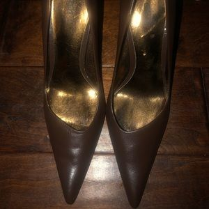 Bakers brown leather pointed heel